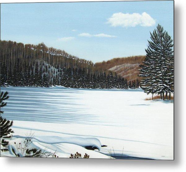 Winter On An Ontario Lake  Metal Print