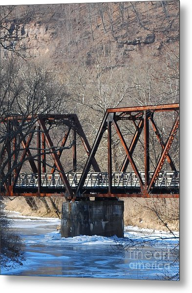 Winter On Knapps Creek Metal Print