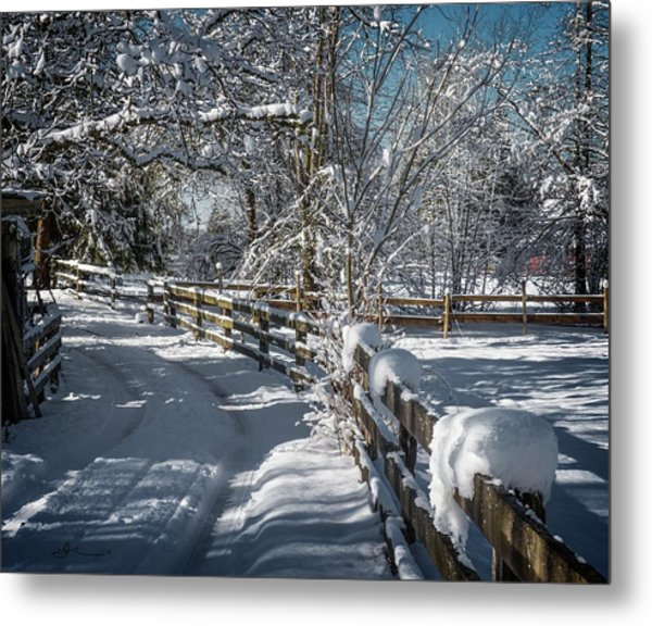 Winter On Ruskin Farm Metal Print