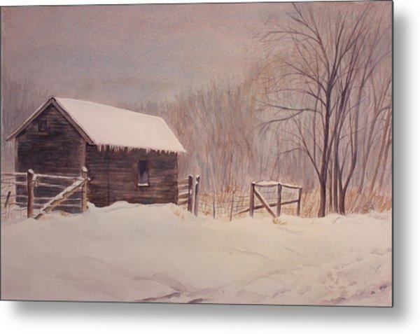 Winter On The Farm  Metal Print by Debbie Homewood