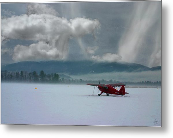 Winter Plane Metal Print