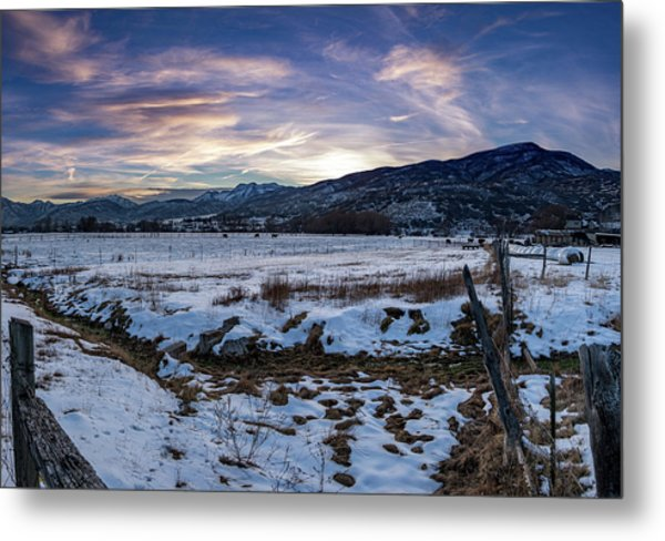 Sunset Range Metal Print