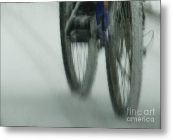 Winter Ride Metal Print