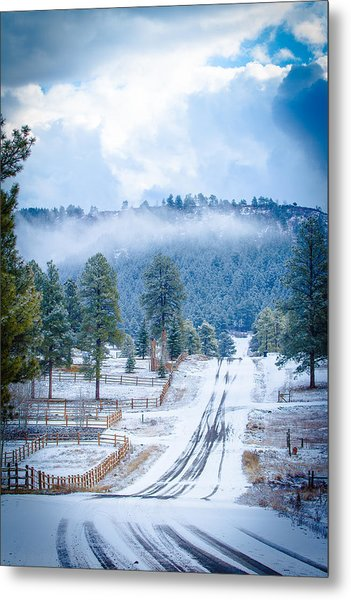 Metal Print featuring the photograph Winter Road by Jason Smith