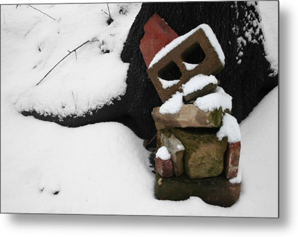 Metal Print featuring the photograph Winter Sculpture by Dylan Punke