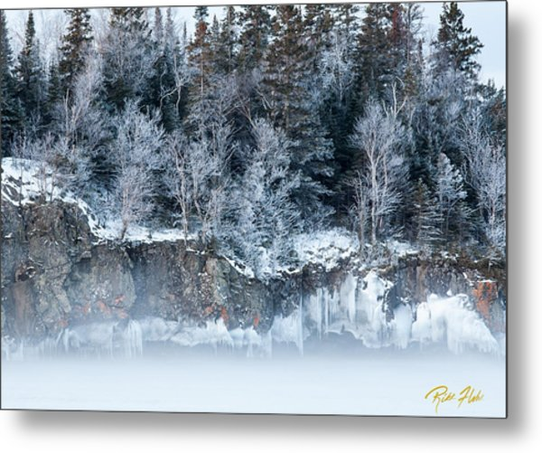 Winter Shore Metal Print