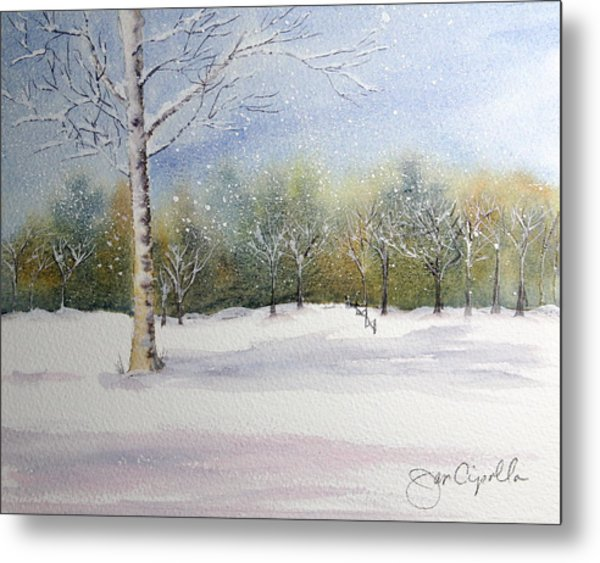 Winter Silence Metal Print by Jan Cipolla