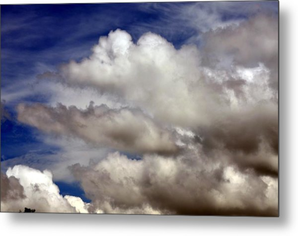 Winter Snow Clouds Metal Print