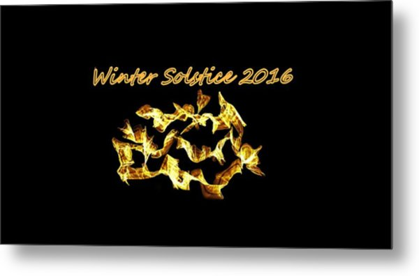 Winter Solstice Flame Metal Print