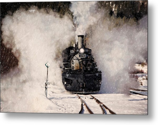 Winter Steam At Rockwood Colorado Metal Print