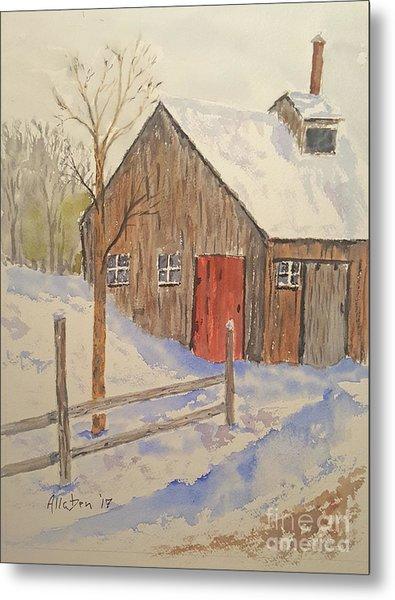 Winter Sugar House Metal Print