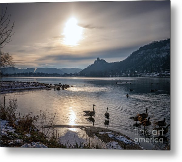 Metal Print featuring the photograph Winter Sugarloaf With Geese II by Kari Yearous