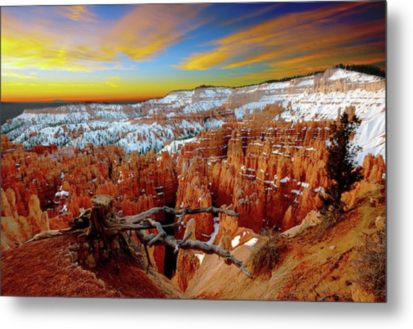 Winter Sunrise At Bryce Metal Print