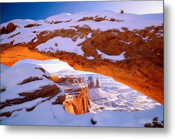 Winter Sunrise At Mesa Arch Metal Print