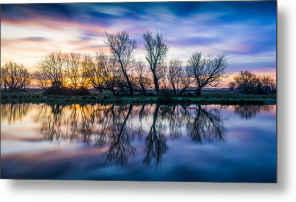 Winter Sunrise Over The Ouse Metal Print