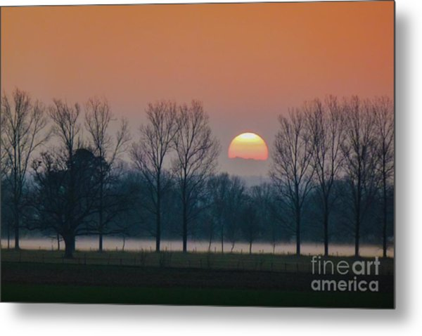 Winter Sunset 1 Metal Print