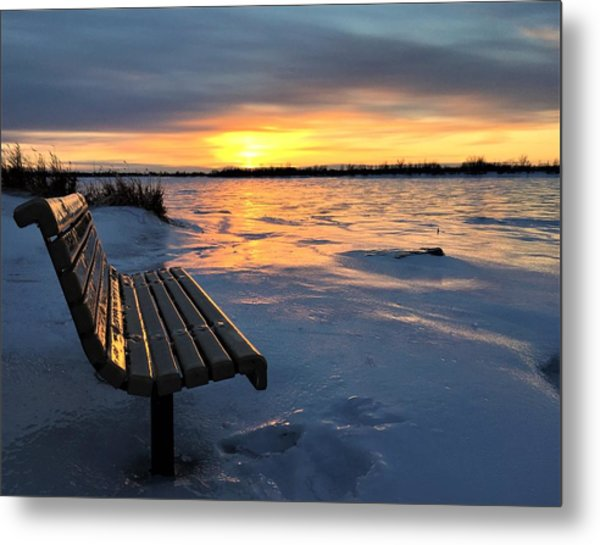 Metal Print featuring the photograph Winter Sunset by Cristina Stefan