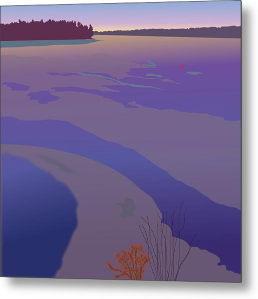 Winter Sunset Metal Print by Marian Federspiel