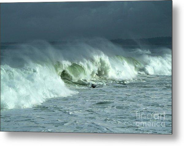 Winter Surf On Monterey Bay Metal Print