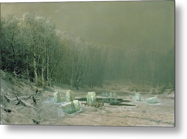 Winter The Laying Off Of Ice Metal Print