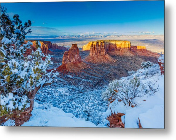 Winter Trails  Metal Print