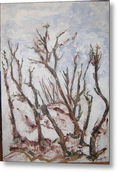 Winter Trees Metal Print by Helene  Champaloux-Saraswati