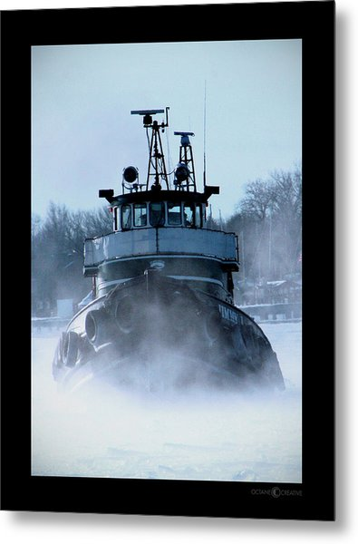 Winter Tug Metal Print