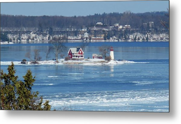 Winter View Of Crossover Island Metal Print