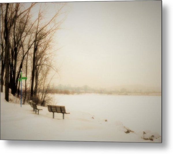 Winter View Over Montreal Metal Print