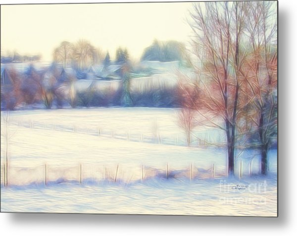 Winter Village Metal Print
