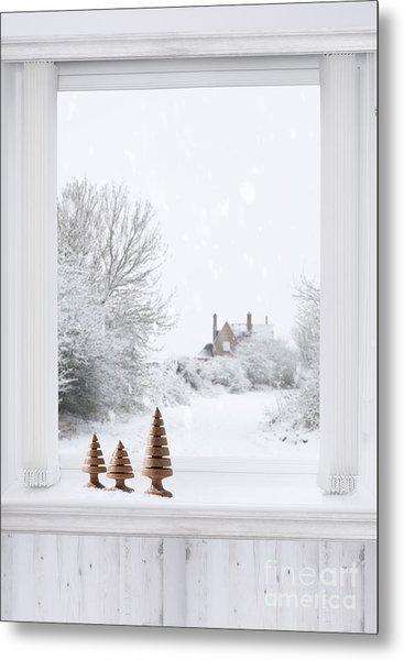 Winter Window Metal Print