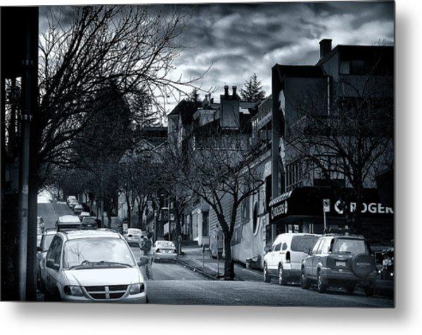 Winter Yew Street Metal Print by Paul Kloschinsky