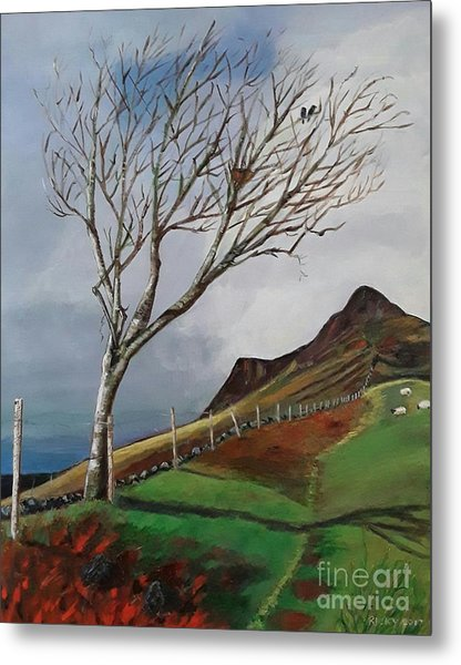Winter's Day At Yewbarrow -painting Metal Print