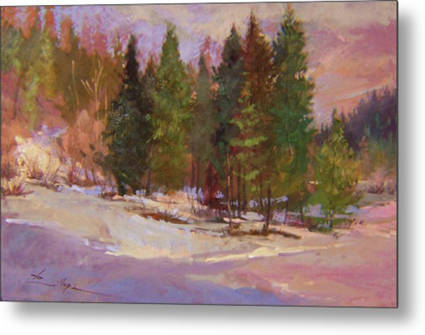 Winter's Eve Plein Air Metal Print