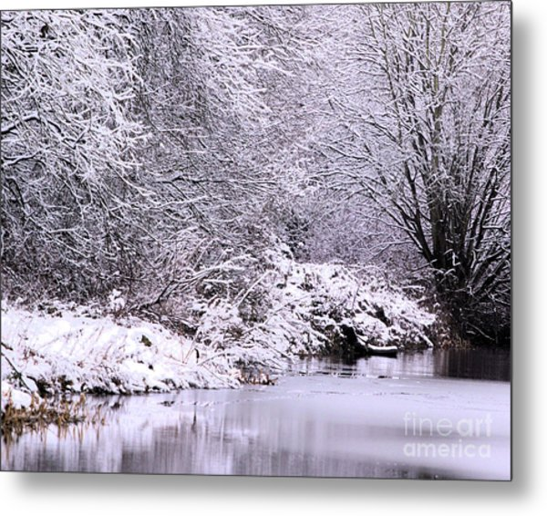 Winters First Icy Breath Metal Print