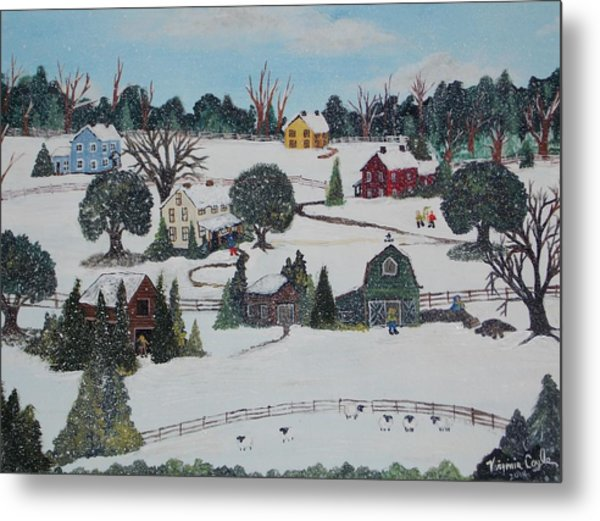 Winters Last Snow Metal Print