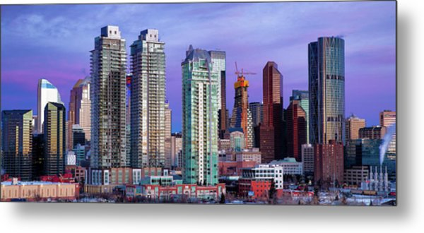 Metal Print featuring the photograph Winter's Sky Over Calgary by David Buhler