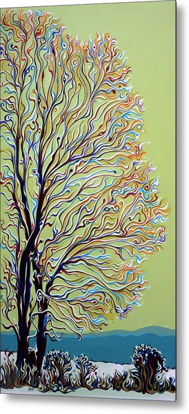 Wintertainment Tree Metal Print