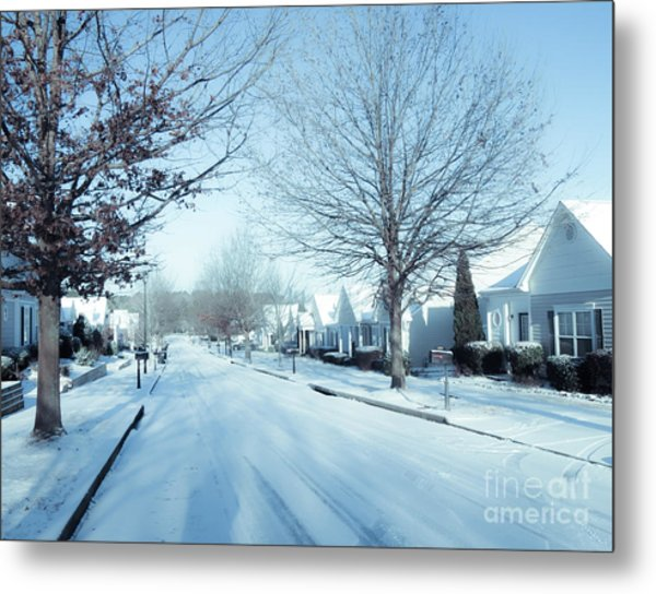 Wintry Snow Fall - Georgia Metal Print