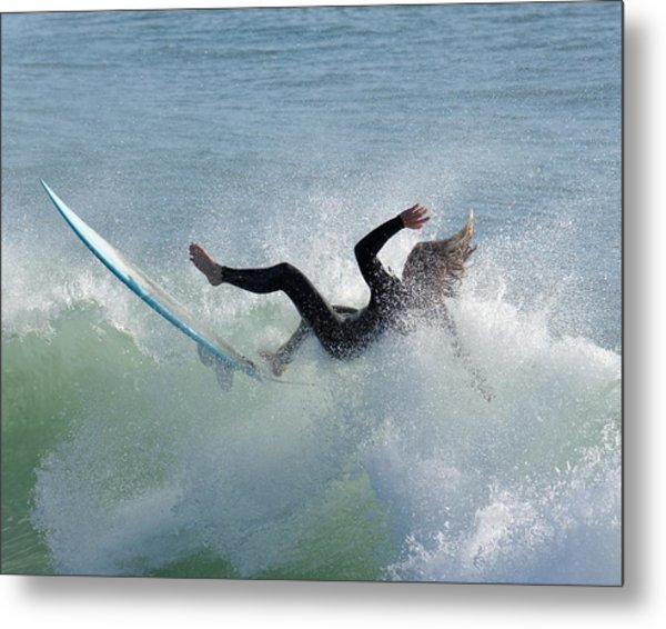 Wipe Out - California Surfer Metal Print