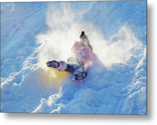 Wipe Out Metal Print by Randy Steele