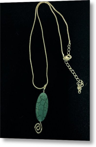 Wire Wrapped Pendant Metal Print