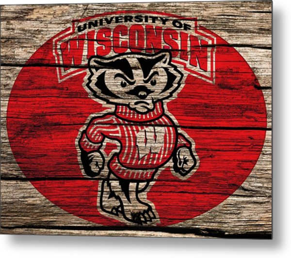 Wisconsin Badgers Barn Door Metal Print