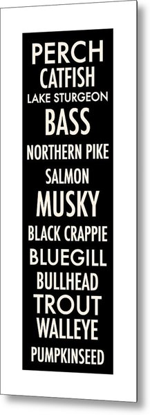 Wisconsin Fish Metal Print