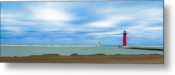 Wisconsin Winter Lakefront Metal Print