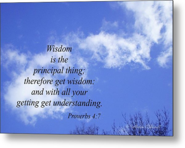Wisdom Is The Principal Thing... Metal Print