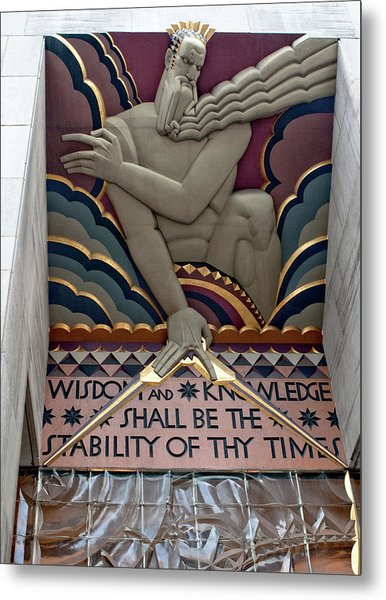 Wisdom Lords Over Rockefeller Center Metal Print