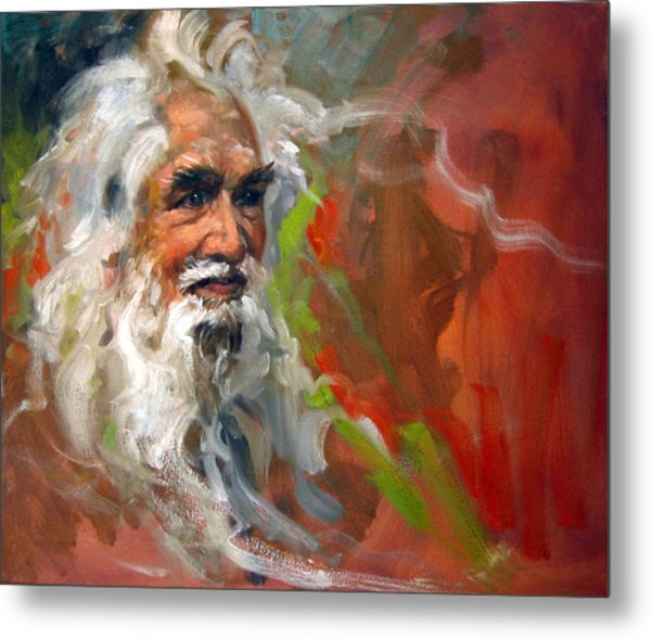 Wise Old Man Metal Print by Andrew Judd