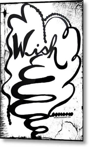 Metal Print featuring the drawing Wish by Rachel Maynard