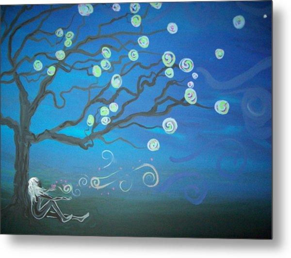 Wishing Tree Metal Print by Lori Ulatowski